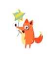 Fox Party Animal Icon vector image vector image