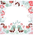 Frame of flowers vector image vector image