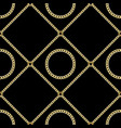 golden chains seamless pattern on black background vector image vector image