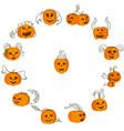 halloween pumpkins zodiac circle vector image vector image