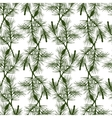 Hand drawn pine branch seamless pattern vector image