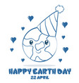happy earth day style design doodles vector image vector image