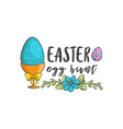happy easter label vector image vector image