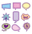 icon set pop art comics vector image vector image