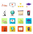 isolated object of education and learning sign vector image vector image