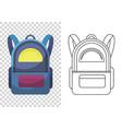 kids school backpack colorful school bag vector image vector image
