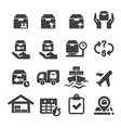 logistics icon vector image vector image
