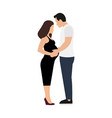 man touching belly his beautiful pregnant woman vector image