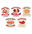 Meat butcher shop signs vector image vector image