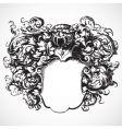 medieval floral crest vector image vector image