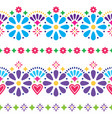 mexican folk seamless background - colorful vector image