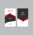 modern and elegant business card templates vector image vector image