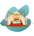 modern tent with furniture poster vector image