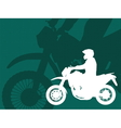 motorcyclistabstract background vector image vector image