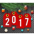 New Year 2017 Text Symbol Labels Icon Transperent vector image vector image