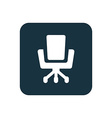 Office chair icon Rounded squares button vector image vector image