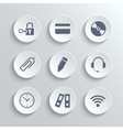 Office icons set - white round buttons vector image vector image