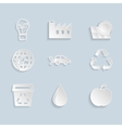 Paper Ecology Icons Set vector image