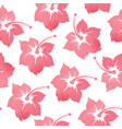 pattern with tropical watercolor flowers vector image vector image