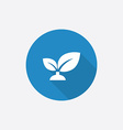 plant Flat Blue Simple Icon with long shadow vector image vector image