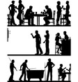 Pub game silhouettes vector image vector image