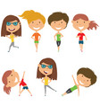 running and work out girls vector image