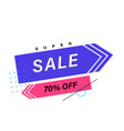 sale banner template weekend specials offer vector image