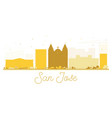 san jose city skyline golden silhouette vector image vector image