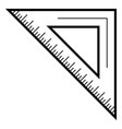 school angle ruler icon outline style vector image vector image