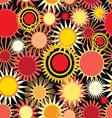 seamless bright pattern with abstract sun vector image