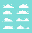 set clouds flat cartoon blue sky nature vector image vector image