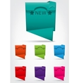 Set of colorful banner with NEW text and star vector image vector image