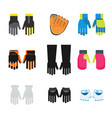 set of gloves vector image