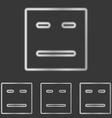 Silver line head logo design set vector image vector image