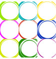 sketchy circles with hand-drawn effect set 9 vector image