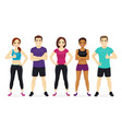 sport people set vector image vector image