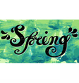 Spring Quote Spring season or springtime vector image vector image