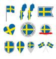 sweden flag icons set national flag kingdom of vector image vector image