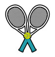 Tennis sport racket with ball