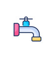 water tab icon in logotype vector image vector image