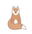 wild sleeping fox hand drawn in scandinavian vector image vector image
