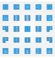 Window blue icons set vector image vector image