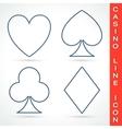 Casino line icon vector image