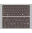 keyboards black vector image