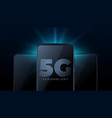 5g wireless internet technology with realistic vector image vector image