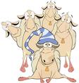 A goat club cartoon vector image