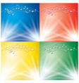 abstract backgrounds with light beams and music vector image vector image