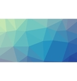 Abstract blue gradient lowploly of many vector image vector image