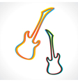 Abstract colorful guitar design vector image