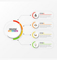 abstract elements graph infographic template vector image vector image